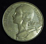French coin (head)