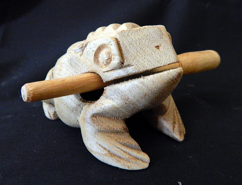 Frog with removable stick