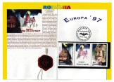 Card with Romanian postage stamps/Two images of Vlad Tepes/One image of Bran Castle