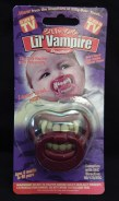 Baby pacifier with fangs