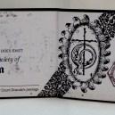Membership card for the Transylvania Society of Dracula (interior)