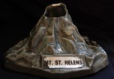Mt. St. Helens ashtray (front view)