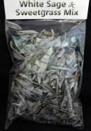 Bag of white sage and sweet grass