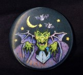 Vampire pin, image of Dracula