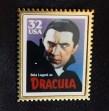 Replica of USA postage stamp of Bela Lugosi as Dracula