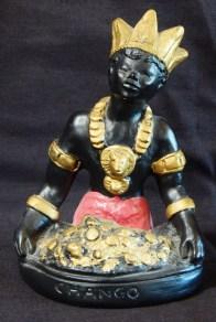 Image of Shango, Santería Saint/Orisha (represents storm and fire)