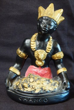 Image of Shango, Santería Saint/Orisha (represents storm and fire)