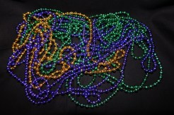 Mardi Gras necklaces