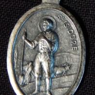 Pendant of St. Isidore, Patron Saint of Seville, aka Isidore the Laborer, aka San Ysidro