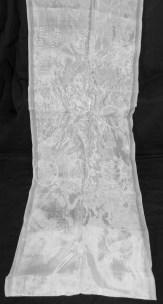 Khata (White scarf with Tibetan Eight auspicious symbols embossed upon it)