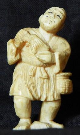 Statuette of Japanese Fisherman