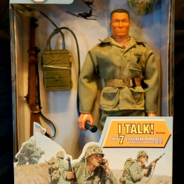 GI Joe, Navajo Code Talker version with recording of 7 Navajo terms and translations used during WWII in the Pacific.