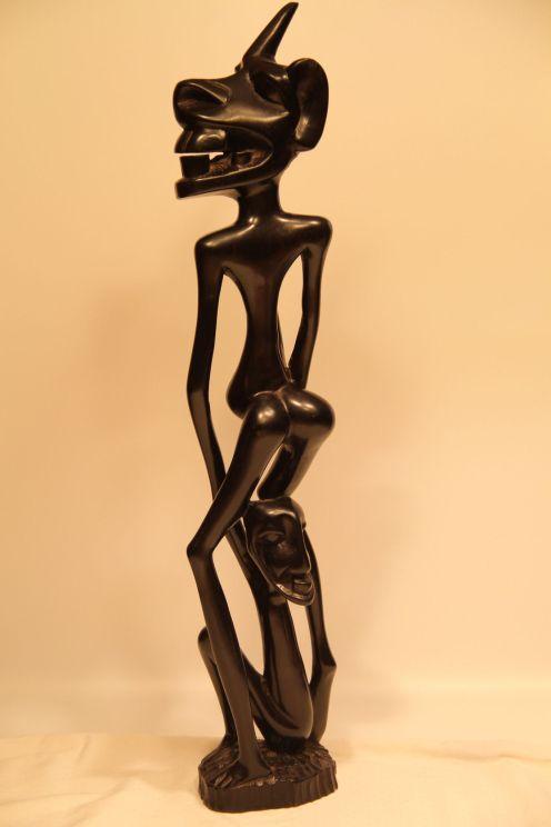 Makonde Shetani Sculpture (2016). Dar es Salaam, Tanzania, Africa. Artist Unknown. Ebony. (21 ½ ͟x 4.5 x 5͟)