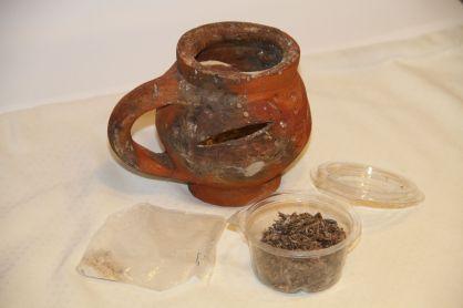 Chetezo: (2017) Zanzibar Archipelago, Tanzania. Artisan Unknown. fired clay, shown with udi(aloeswood), ubani (frankincense) and uvumba resin. 5 1/2 x 6 1/2