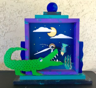 Alligator Clock-By Libby Hodges Purchased in Miami, FL., 1998.