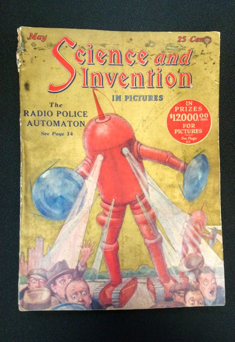 "Science and Invention magazine, May 1924. Published in New York City by Hugo Gernsback. 8.5"" x 11.75"""