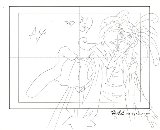 """The Storyteller Drosselmeyer Mocks One of His Characters,"" from Princess Tutu, Episode 25 (2003). http://sensei.rubberslug.com/gallery/inv_info.asp?ItemID=268246"