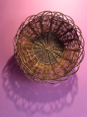 "Vincenzo Ancona, Basket, 1985, olive branches 19"" round"