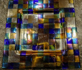Kiln-formed glass plate made by my sister, Nancy Banks.