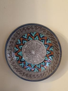 "From street of potters in Slătioara, Romainia. 6"" diameter."