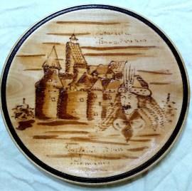 "8"" x 8"" x 1"". Wood. Date unknown (1974-2010)."