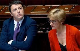 La Ministra Pinotti con il Presidente Renzi