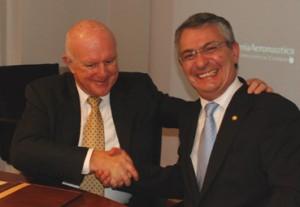 Robert Bolz e Giancarlo Anselmino per Lockheed Martin e Alenia Aeronautica.
