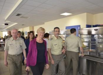 La Ministra con il SGD e i due DD.GG. in vista alla mensa