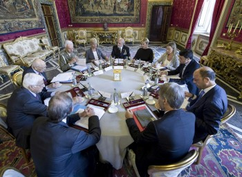 La riunione del Consiglio Supremo di Difesa