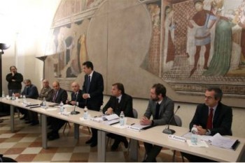 La cerimonia di Palazzo Farnese a Piacenza
