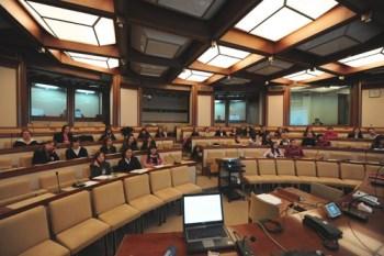 L'aula della Commissione Difesa del Senato, sede dell'audizione delle OO.SS.