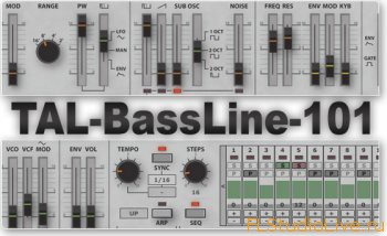 VST плагин - Togu Audio Line TAL-BassLine-101 v1.72 Incl Keygen