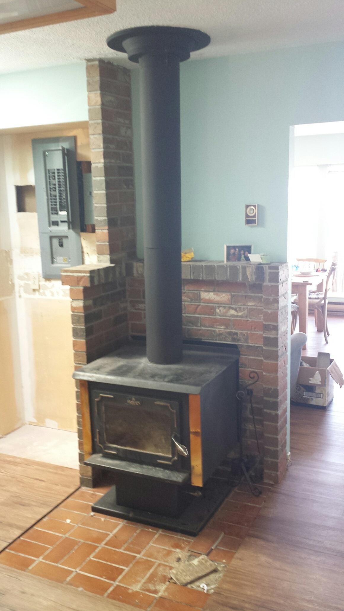Adding Wood Stove Heat Shield