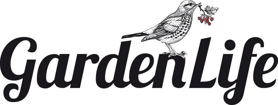 Garden Life Logo mit Vogel
