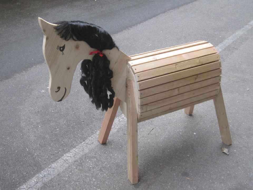 Pferd mit schwarzer Mähne