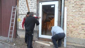 Tür einbauen