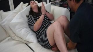 Şişman kadın en mutlu gününde