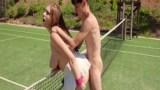 Tenis kortunda eğlenceli anlar