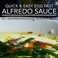 Egg Fast Alfredo Sauce - Low Carb Keto Nirvana