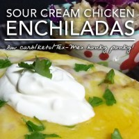Sour Cream Enchiladas - A Low Carb Keto and Gluten Free Tex-Mex Classic