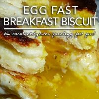 Egg Fast Breakfast Biscuit - Low Carb Keto Breakfast Yum