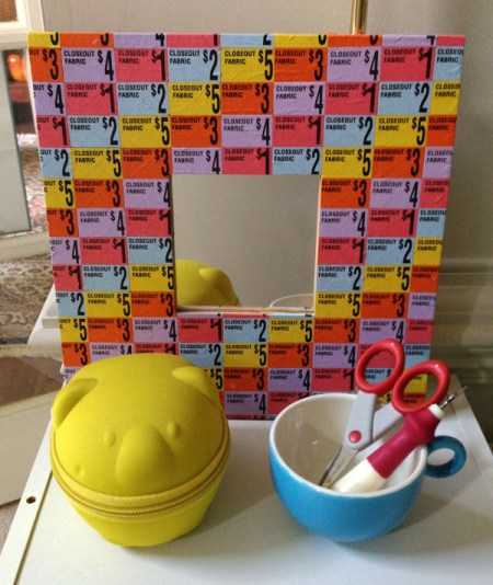 ikea mirror covered in fabric discount stickers
