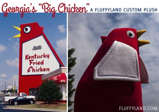marietta, georgia's big chicken in plush form