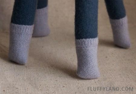 wool plush alpaca - socks