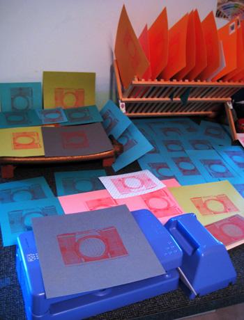 billions of orange camera gocco prints