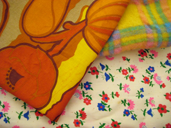 a portion of the rummage sale fabric haul
