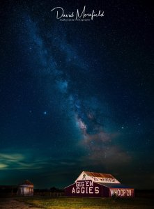 Aggie Barn Under the Stars by David Morefield