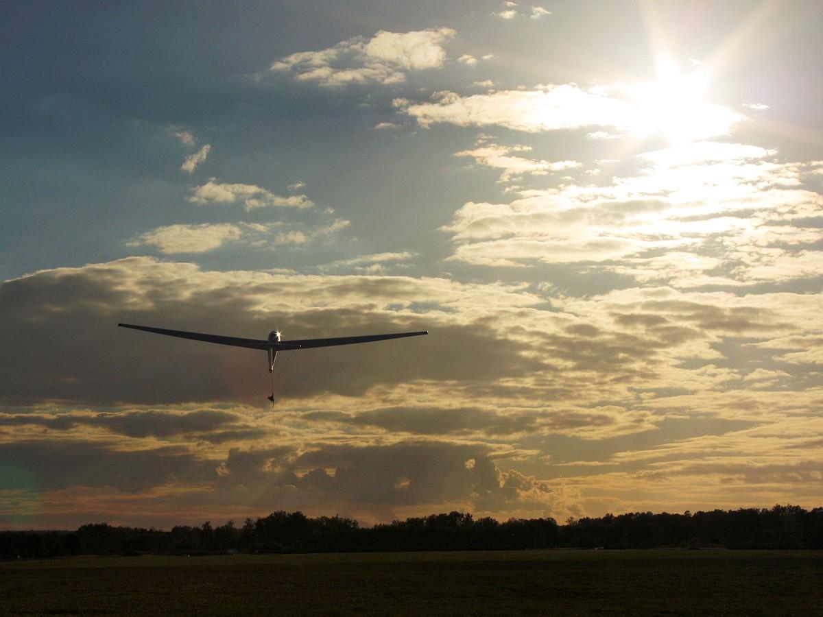 Windenstart Segelflugzeug ASK 21