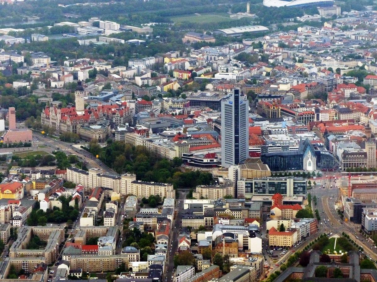 City-Hochhaus und Innenstadt Leipzig