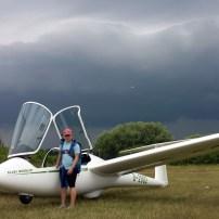 Letzter Flug vor dem großen Gewitter